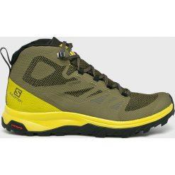 Wyprzedaż zielone buty trekkingowe męskie Salomon