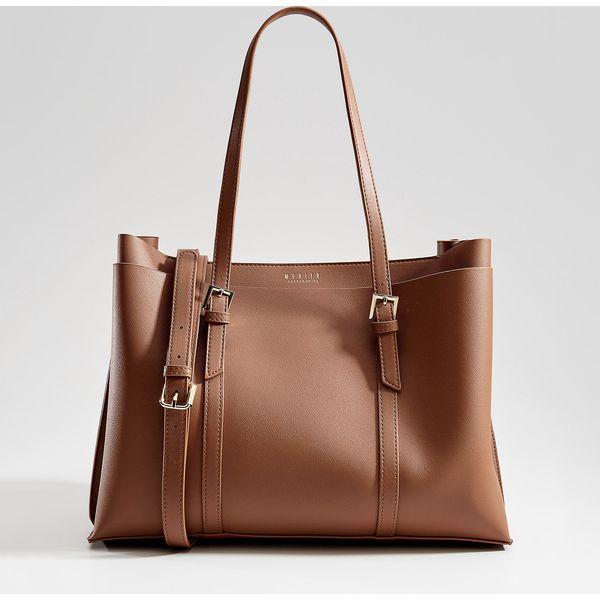 f249db855925 Torebka city bag z odpinanym paskiem - Brązowy - Torebki klasyczne ...