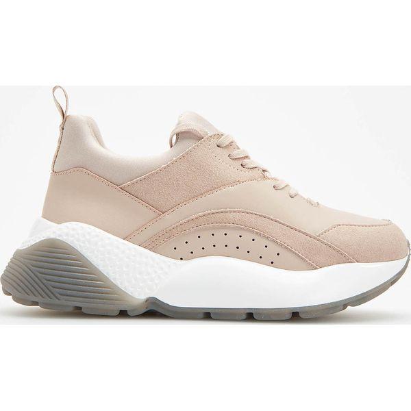 648d02f97ef96 Sportowe buty na grubej podeszwie - Różowy - Buty sportowe na co ...