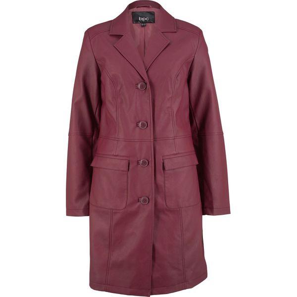 52c8e6db42a42 Płaszcz ze sztucznej skóry bonprix czerwony klonowy - Płaszcze ...