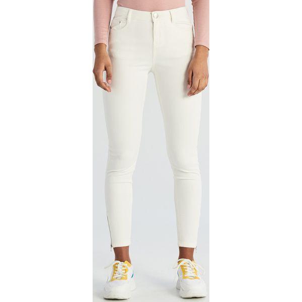 Spodnie skinny Biały