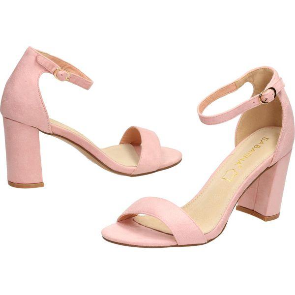 Niebiesko Różowe Sandały Aeciane