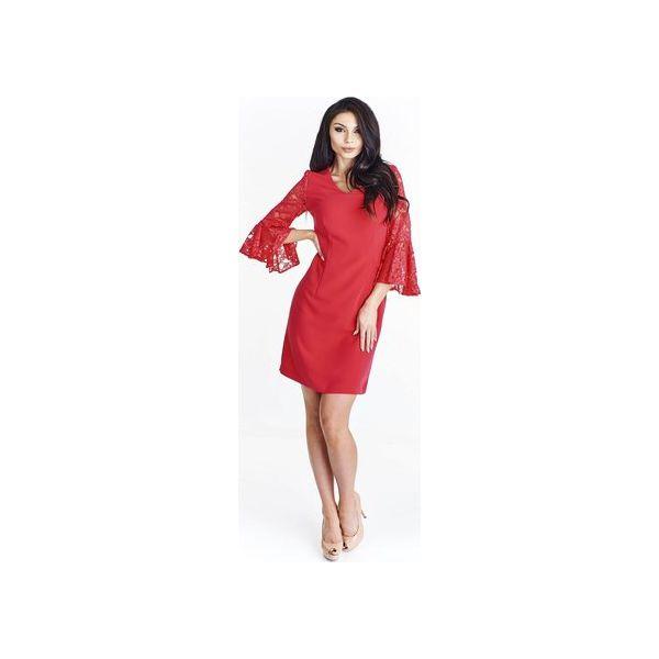 03906ef85a Ołówkowa sukienka z koronkowymi rękawami - Sukienki damskie marki ...