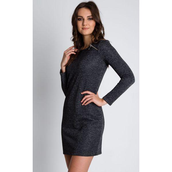 f9bc8570ca Szara dopasowana sukienka z długim rękawem BIALCON - Sukienki ...