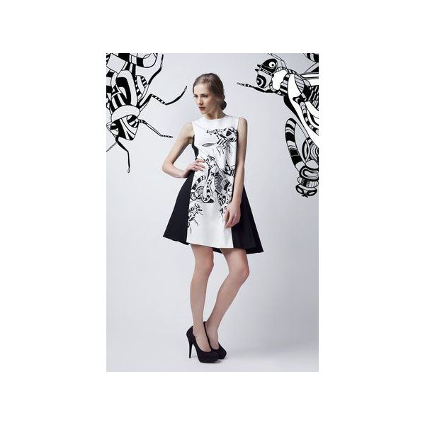 b57b06bb18 Czarno-biała sukienka - Sukienki damskie marki Luiza kimak. Za 899.00 zł. -  Sukienki damskie - Odzież damska - Kobieta - Sklep Super Express