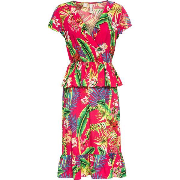 738b5d5cd8 Sukienka z falbaną bonprix różowy - Sukienki damskie marki bonprix ...