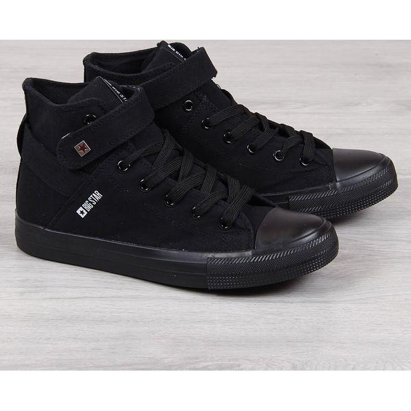 Trampki męskie tekstylne czarne Big Star FF174139 czarny