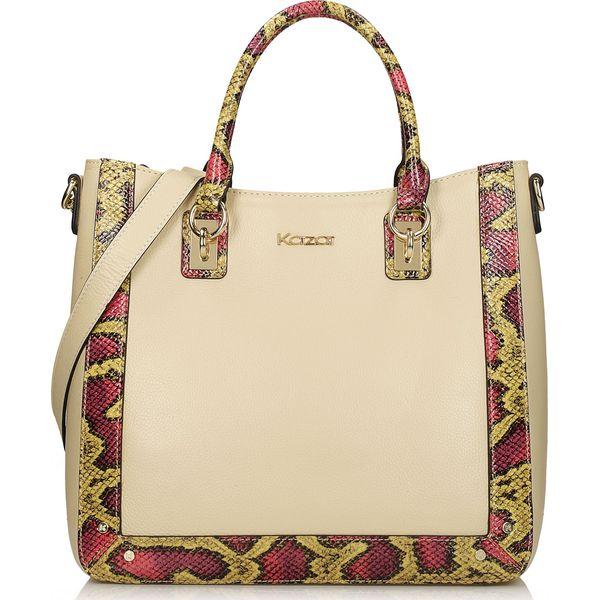 61a5d2aa2fefc Beżowo różowa torebka do ręki - Torebki klasyczne damskie marki ...
