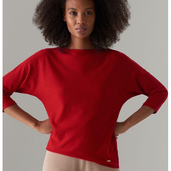 f1b55876 Sweter z rękawami 3/4 - Czerwony