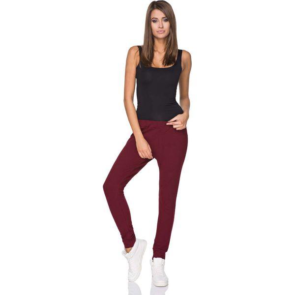 b186aa4b2333 Bordowe Spodnie Dresowe z Elastycznym Pasem - Spodnie dresowe ...