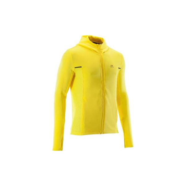 Bluza do biegania męska RUN WARM+ żółta