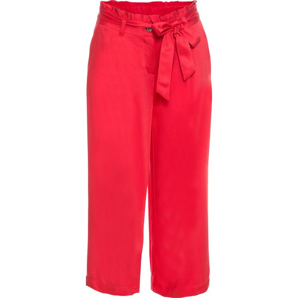 a16c6f97671bc9 Spodnie 3/4, szerokie nogawki bonprix truskawkowy - Spodnie ...