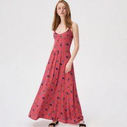bbb55c9c51a3d4 Czerwona sukienka w kwiaty - Wielobarwny. Czerwone sukienki damskie Sinsay,  l, bez wzorów