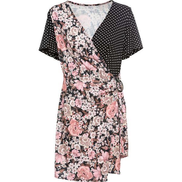 79947db1cc Sukienka letnia z dżerseju w różne desenie bonprix czarno ...