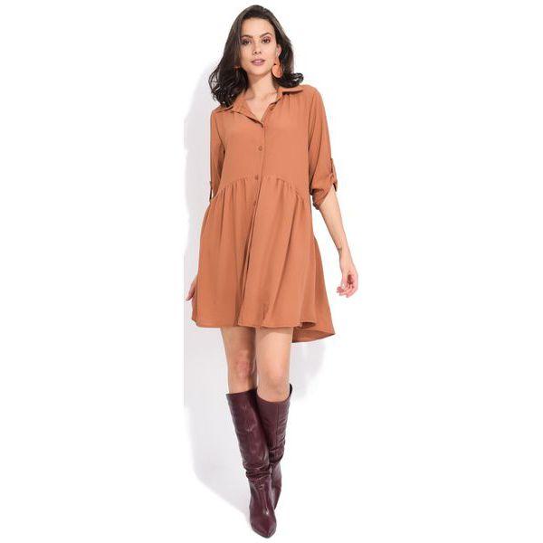 6801b9cfc2 Fille Du Couturier Sukienka Damska Oriane 42 Brązowy - Sukienki damskie  marki Fille Du Couturier. W wyprzedaży za 168.00 zł.