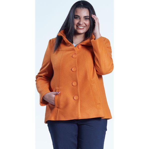 c1c455719c Musztardowa elegancka kurtka płaszcz Vera OVERSIZE PLUS SIZE WIOSNA ...