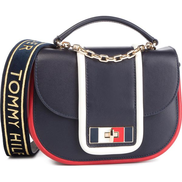 e17f07e8993a7 Torebka TOMMY HILFIGER - Fancy Th Leather Med Crossover AW0AW06119 ...