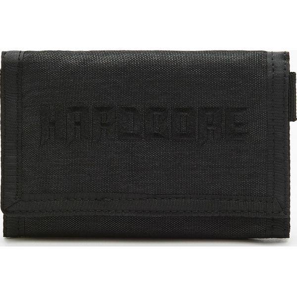 c0c05e4fcad63 Materiałowy portfel z napisem Hardcore - Czarny - Portfele męskie ...
