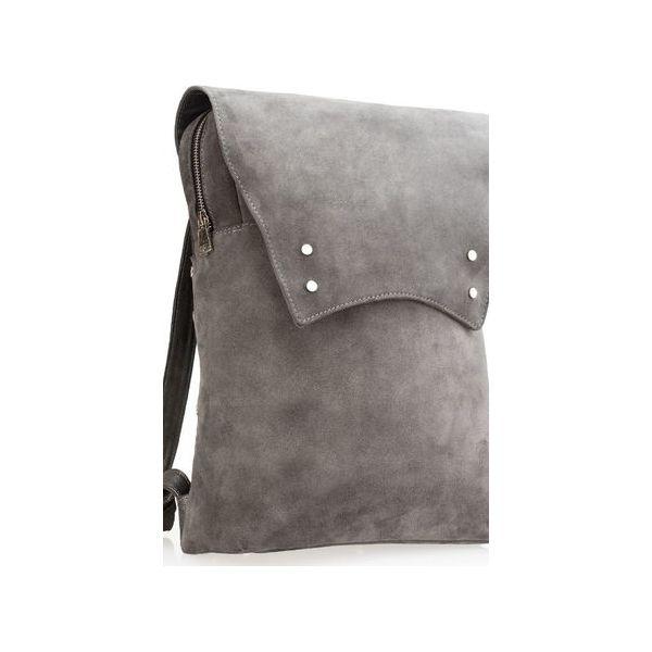 c66df73005 Plecak skórzany damski ręcznie uszyty z włoskiej skóry szary ...