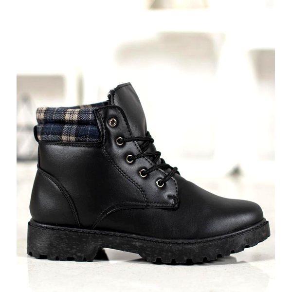 buty wiazane za kostke damskie