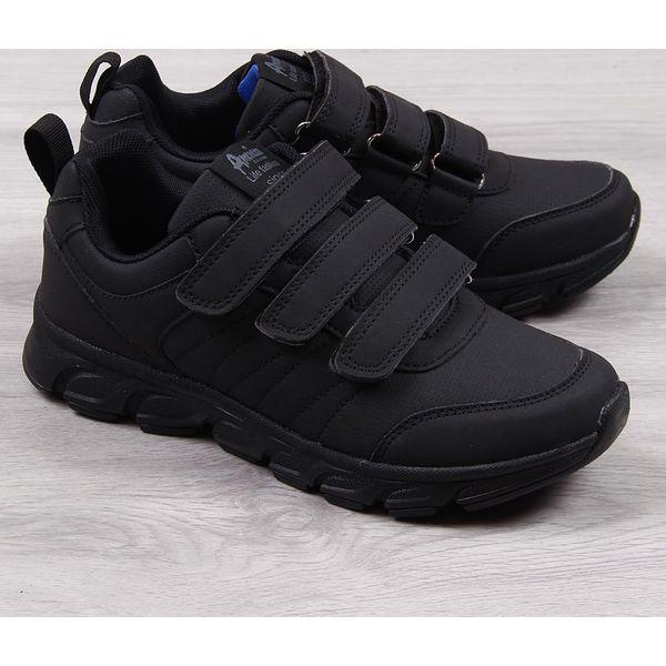 Buty sportowe męskie na rzepy czarne American Club