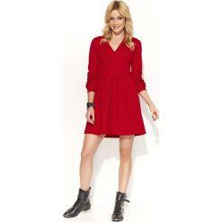 4180ee0a1a Czerwona Sukienka Rozkloszowana z Dekoltem V. Sukienki damskie marki  Molly.pl. Za 109.90