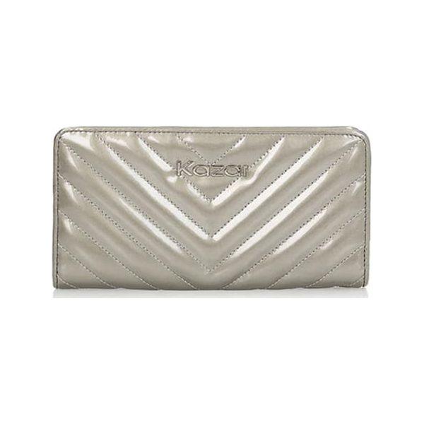 ea9dfd85b8817 Skórzany portfel w kolorze srebrnym - (S)19 x (W)10 cm - Portfele ...