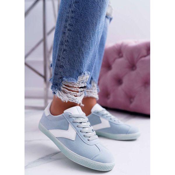 Błękitne sportowe buty damskie Big Star DD274301 niebieskie