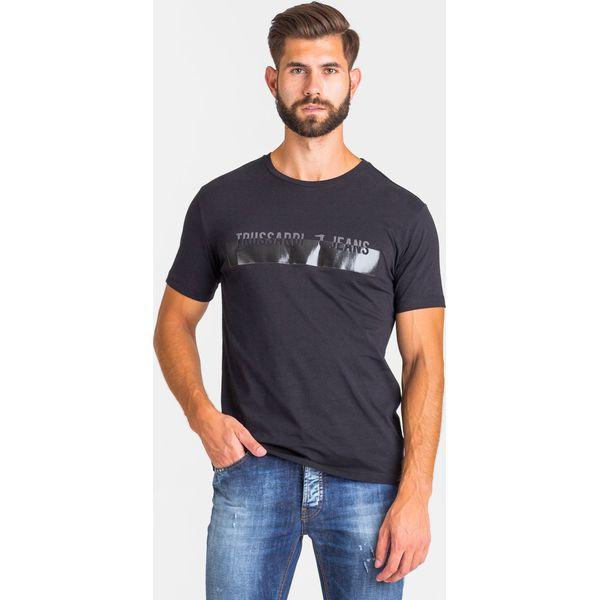 T SHIRT Trussardi Jeans Czarne t shirty męskie TRUSSARDI