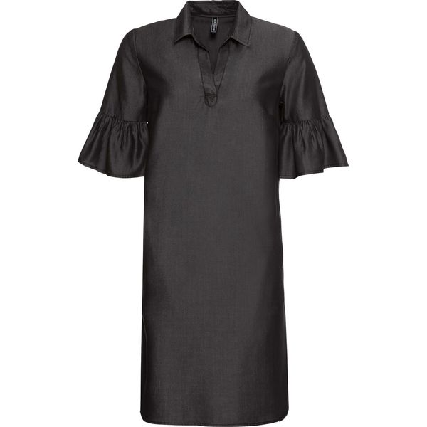64b7330954 Sukienka z materiału w optyce dżinsu bonprix czarny denim - Sukienki ...