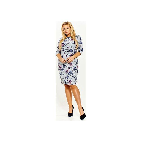 b9d38a1c50 Melanżowa sukienka w kwiaty - Sukienki damskie marki Bird. Za 99.00 ...