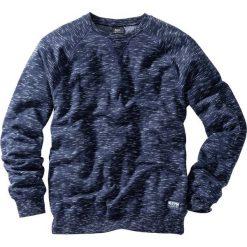 73b5a55998f2 Bluza z reglanowymi rękawami bonprix ciemnoniebieski melanż. Bluzy bez  kaptura męskie marki bonprix. Za