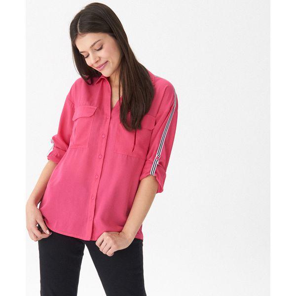 a46b24cd2b42cb Koszula z lampasami - Różowy - Koszule damskie House. W wyprzedaży ...