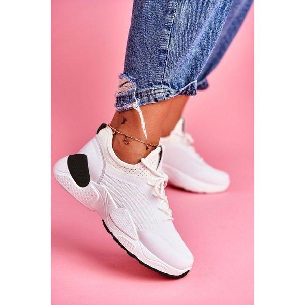 BUGO Białe obuwie damskie sportowe sneakersy B0 547