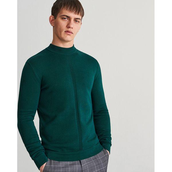 179d39b1e0d8a Sweter ze stójką - Turkusowy - Swetry męskie marki Reserved. W ...
