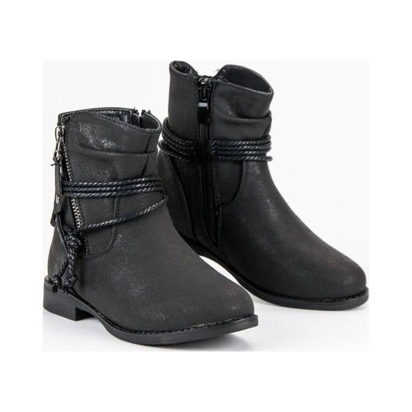 9dd858e0 Buty dziecięce stylowe botki czarne r. 31 - Botki dziewczęce VINCEZA ...