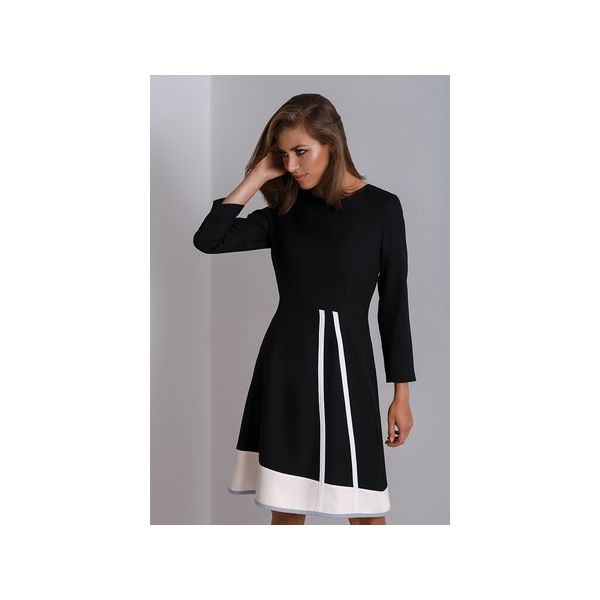 fac02ec645 Czarna czarna sukienka do pracy Catrise - Sukienki damskie marki ...