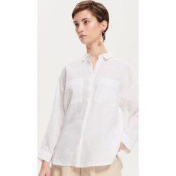 7058a01608 Lniana koszula - Biały. Koszule damskie marki Reserved. Za 119.99 zł.