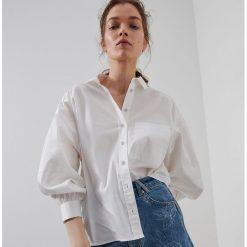 Białe koszule damskie z lnu, kolekcja wiosna 2020
