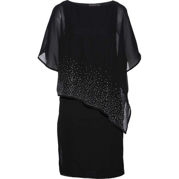 1e88b4b726 Sukienka z połyskującymi kamieniami bonprix czarny - Sukienki ...