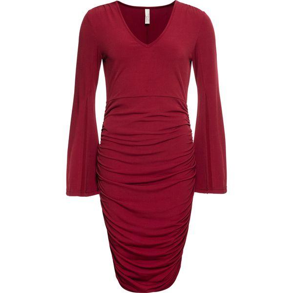4ef2a7ca12 Sukienka bonprix ciemnoczerwony - Sukienki damskie marki bonprix. Za ...