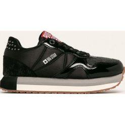 Czarne buty sportowe na co dzień damskie Kolekcja wiosna