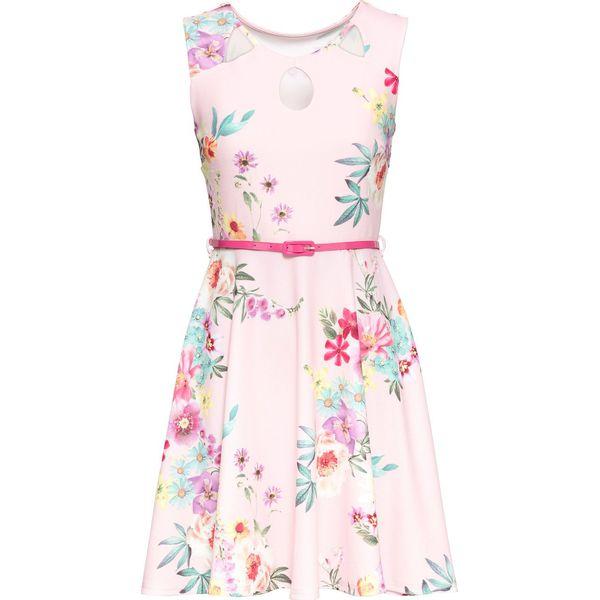 411c0ed3e3 Sukienka z dżerseju w kwiaty bonprix różowy w kwiaty - Sukienki ...