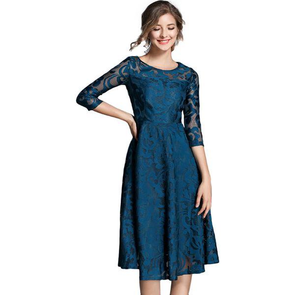 63974845f7 Sukienka w kolorze niebieskim - Niebieskie sukienki damskie marki ...