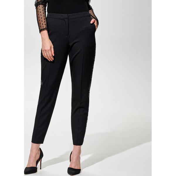 Spodnie z cekinowymi lampasami Czarny