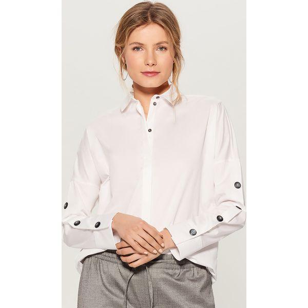 6461a8db0 Koszula ze zdobieniami na rękawach - Biały - Koszule damskie Mohito ...
