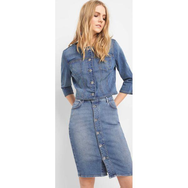 216cf825 Jeansowa spódnica z guzikami