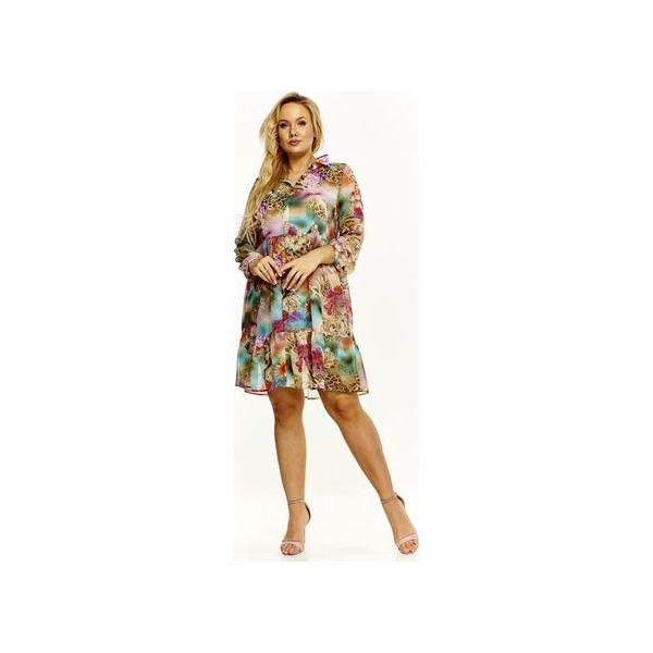 df24836e Zwiewna sukienka w kwiaty