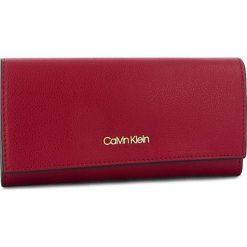 d36077dc5e033 Duży Portfel Damski CALVIN KLEIN - Frame Large Trifold K60K604489 628. Czerwone  portfele damskie marki