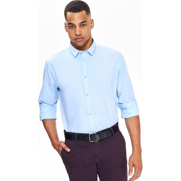 Koszula męska typu oxford o dopasowanym kroju Niebieskie  4ZMLv